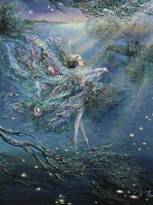 "Inspirational Card ""Where Moonbeams Fall"" Inspirational Card by Josephine Wall (ISG45678)"